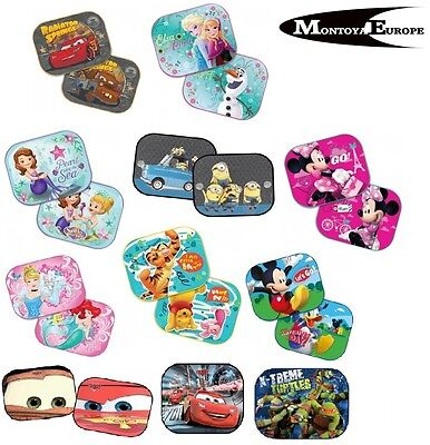 2x Disney UV SunShade Baby Boy Girl Children Kids Car Window Sun Shades