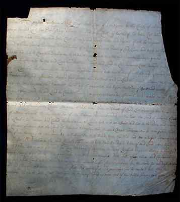 Important 1677 Vellum Land Deed document Albany County New York Indians