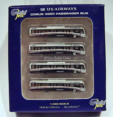 Gemini Jets US Airways Cobus 3000 Passenger Bus (4) GJUSA1533 1/400. New