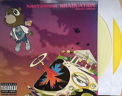 KANYE WEST Graduation Deluxe Limited Edition CLEAR & MARBLE YELLOW 2LP VINYL NEW