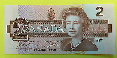 Canada 2 Dollars Unc Banknote 1986 1X,one Banknote