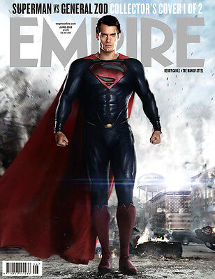EMPIRE,Superman,Man Of Steel,HENRY CAVILL,Zack Snyde,LIMITED COVER SEALED