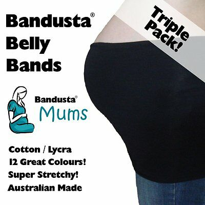 3 x NEW Bandusta® Belly Bands Tummy Tubes Band Tube TRIPLE PACK -  FREE POST!