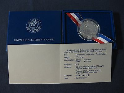U.S. Half Dollar coin 1986 S Proof Liberty Commemorative super nice coin