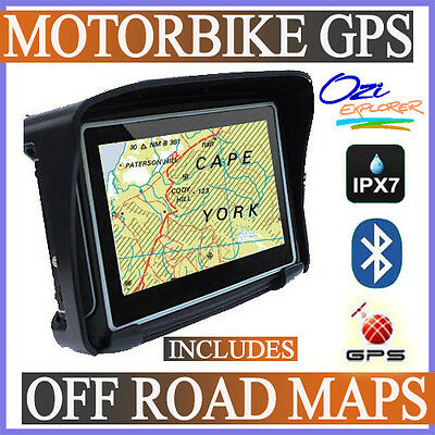 OFF ROAD Motorbike GPS - High detailed Topographic maps - Motorcycle GPS - IPX7