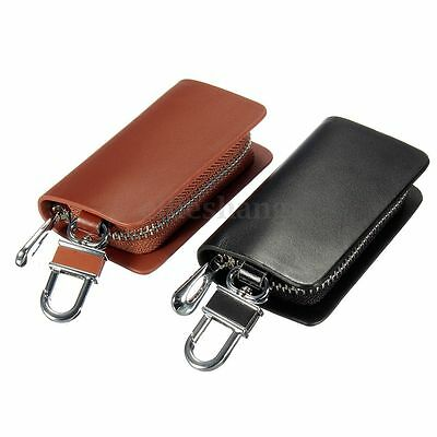 Car Brand LOGO Key Holder Case Bag Cover Leather Wallet Solid Clutch Coin Purse