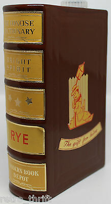 Concise Dictionary Book Bright Spirit Rye Decanter Bottle Made in West Germany