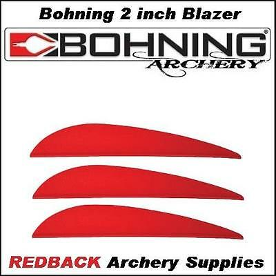 Bohning 3 inch X Vane RED 25 pack  for arrows archery hunting