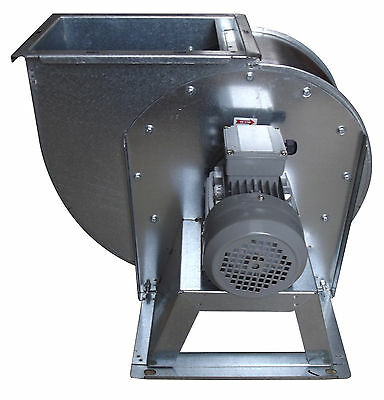 Centrifugal industrial duct extractor fan, blower, 1400 RPM, 2500m3/h; 400 V