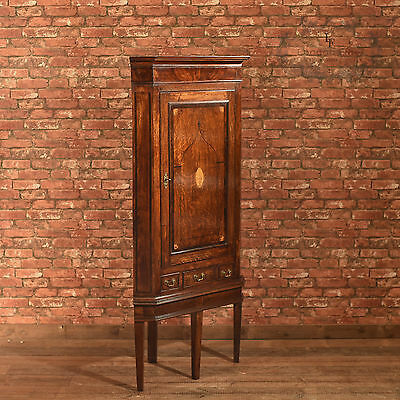 Antique Corner Cabinet on Stand, Georgian Oak, Cupboard, English, c.1760