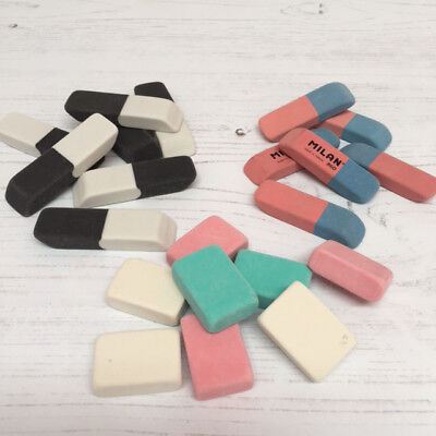 Pencil & Ink Rubber Erasers 3 Types in Packs of 8 and Multi Pack Bulk Deals