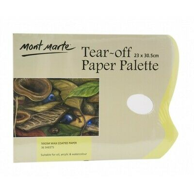 Mont Marte Tear Off Paper Palette 36 Sheets