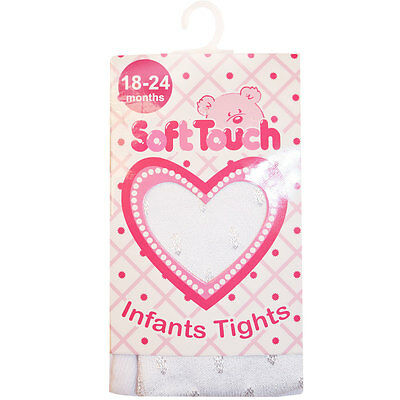 Baby Girls Tights Soft Touch Diamond Infant Various Sizes and Colours
