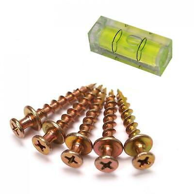 Bear Claw Hanger Plasterboard/Drywall Picture Hanging Brass Screws + Level