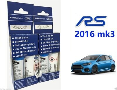 New! Genuine Ford Focus RS Nitrous Blue Touch up paint kit 18ml Twin Pack Stick