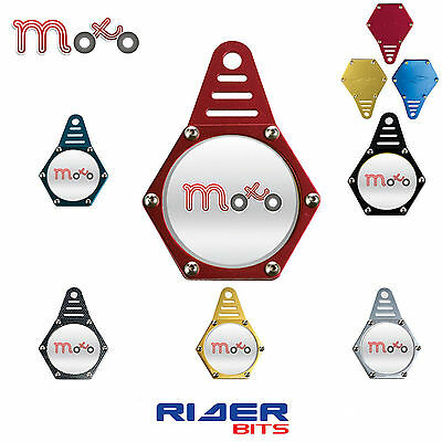 Motorbike Hexagon Tax Disk Holder Red Waterrproof Quad Universal Fit