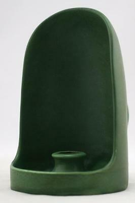 """Hampshire 6.5"""" Arts & Crafts Style Hooded Chamberstick In Rich Matte Green Glaze"""