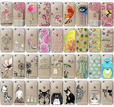 Fashion Animal Pattern Slim Soft TPU Phone Cover Case For iphone 6 6S 5 6 Plus