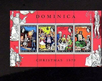 Dominica - 1970 - Christmas Carol - Charles Dickens - Mint S/sheet!