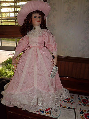 """Court of dolls 28"""" tall Olivia porcelain doll w/coa 2731/5000 free shipping"""