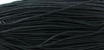 80m 1.5mm strong black waxed cotton cord - jewelry slip knot necklace bracelet