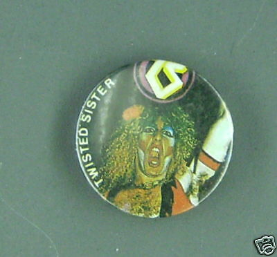 RARE VINTAGE Twisted Sister BUTTON Pin