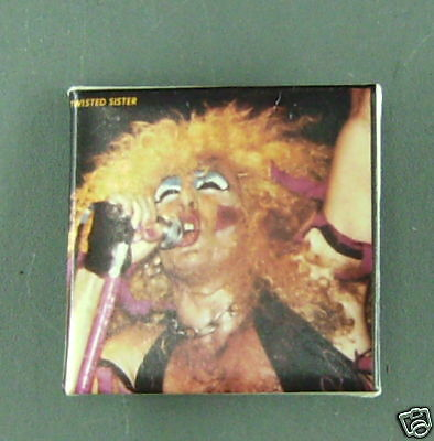 RARE VINTAGE Twisted Sister cardboard Pin CONDITION NEW