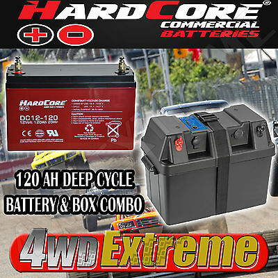 Power Battery Box 12V 120Ah Projecta Bpe330,deep Cycle Agm Dual Hardcore