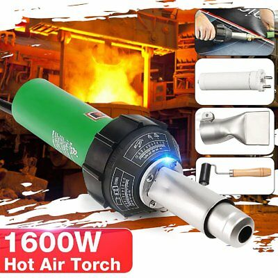 220V 1600W Hot Air Torch Plastic Welding Gun Welder Pistol With Rollder Brush
