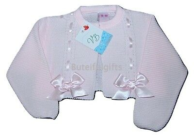 Girls Spanish Slotted Ribbon Bow Bolero Cardigan 12 Month - 4 Years One Supplied
