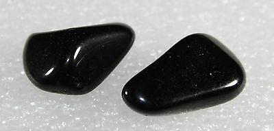 Natural Black Onyx tumbled Nugget, 2 pieces BO-02