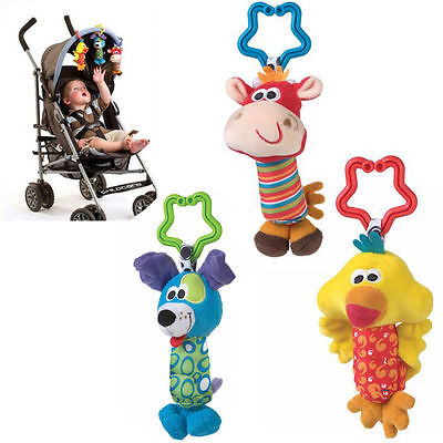 New Toy Kids Stroller Animal Rattle PP Cotton Bell Soft Baby Hot Handbell Bed r