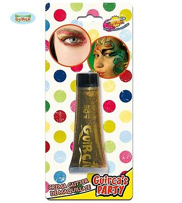 goldene Glitzer Creme Make Up Karneval Halloween Party Haut Gesicht gold 20ml