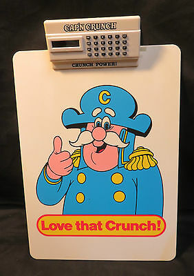 Vintage Cap'n Crunch Cereal Plastic Clip Board With Calculator Non-working