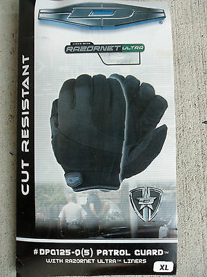 Damascus Cut Resistant Patrol Gloves With Razornet - Black. Free Shipping!!