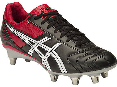 Asics Men's Lethal Tackle rugby boots RRP £60.00 Black/Racing Red