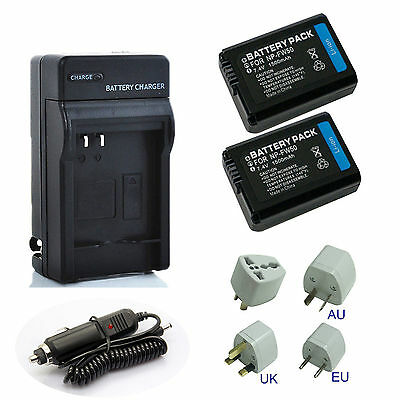New Battery / Charger for Sony NP-FW50 InfoLthium W Series Rechargeable 1500mAh