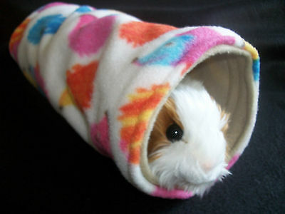 guinea pig bed house degu, rat ,ferret ,fleece play tunnel tube,toy (HEDGEHOG)