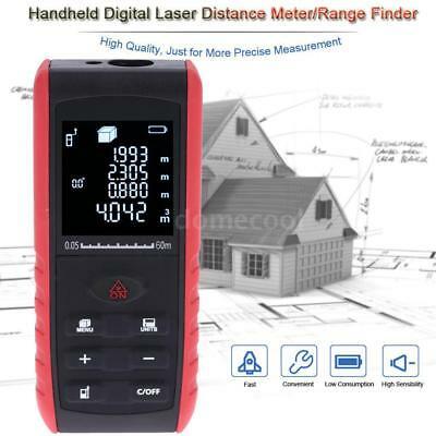 60m Digital Handheld Laser Distance Meter Range Finder Measure Diastimeter