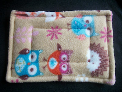 "COZY PETS guinea pig bed snuggle cushion lap wee pad holder degu hedgehog11""x8"""