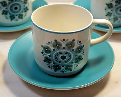 Vintage Johnson Brothers Ironstone Cup and Saucer Set Mid Century Modern