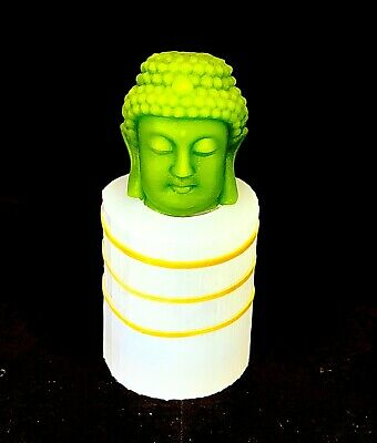3D Silicone candle soap Mold pillar votive Chinese Buddha head statue Homemade