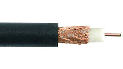 HOUWIRE RG59 Black Coaxial Coax Cable Spool - 1000 Ft.