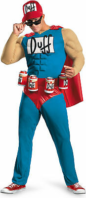 The Simpsons Duffman Classic Muscle Adult Funny Men's Costume Fancy Dress Outfit