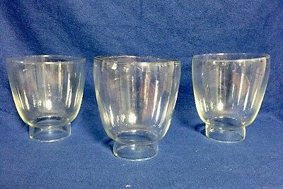 "Lot of 3 Small Chandelier Candle Wall Sconce Glass Chimney Shade 4 1/2"" x 2 1/8"""