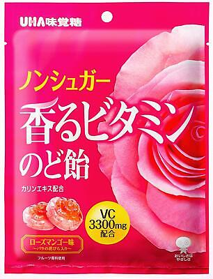 UHA Fragrant Vitamin Throat Candy 92g Rose Mango Flavor x 6 bags Free Postage