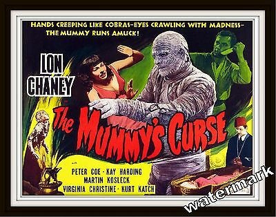 Wall Art Movie Poster-1944 The Mummy's Curse Lon Chaney  11x14