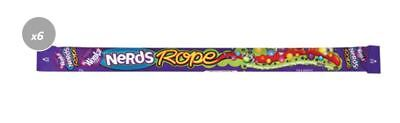 901821 10 x 25g PACKETS OF WONKA NERDS ROPE - TEAR & SHARE