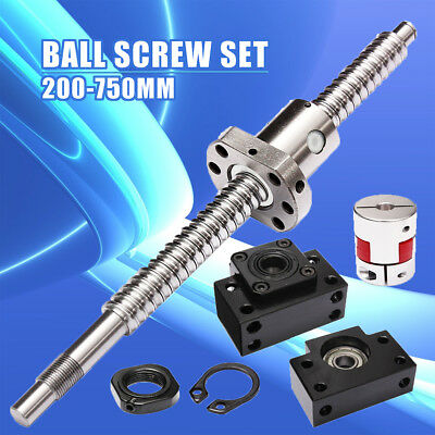 Antibacklash Ball Screw SFU1605 L200mm-750mm & BK12 BF12 + 6.35x10mm Coupler Set
