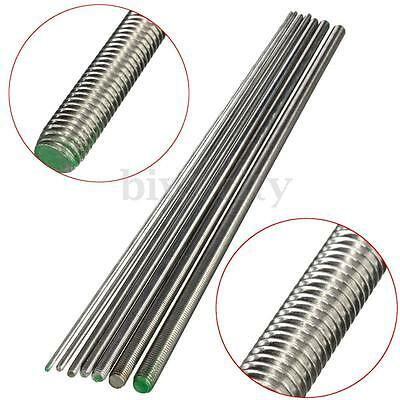 500mm 304 Stainless Steel Round Threaded Screw Rod Bar M3 M4 M5 M6 M8 M10 M12